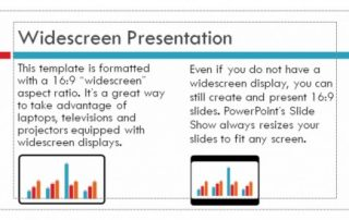 PowerPoint DVD image that shows a correctly made slide.