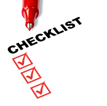 Checklist for submitting audio and video transcription
