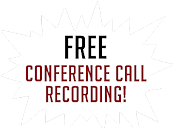 Free conference call recording by AudioFile Solutions